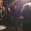 The seminarians listen to a short explanation of the history of the Mission